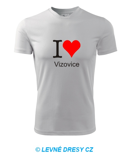 Tričko I love Vizovice